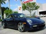 2008 Midnight Blue Metallic Porsche 911 Turbo Coupe #351967