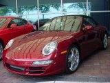 2008 Ruby Red Metallic Porsche 911 Carrera S Cabriolet #351963
