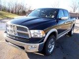 2009 Brilliant Black Crystal Pearl Dodge Ram 1500 Laramie Crew Cab 4x4 #3483873