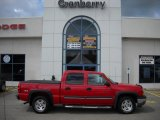 2005 Victory Red Chevrolet Silverado 1500 Z71 Crew Cab 4x4 #35353991