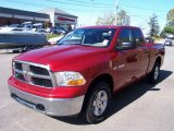 2009 Inferno Red Crystal Pearl Dodge Ram 1500 SLT Quad Cab 4x4 #3483856