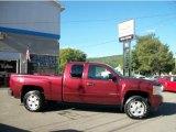 2008 Deep Ruby Metallic Chevrolet Silverado 1500 LT Extended Cab 4x4 #35427250