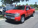 2011 Victory Red Chevrolet Silverado 1500 LT Extended Cab #35427299