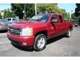 2007 Sport Red Metallic Chevrolet Silverado 1500 LT Extended Cab 4x4 #35483528