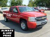 2011 Victory Red Chevrolet Silverado 1500 Extended Cab #35551096
