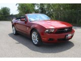 2011 Red Candy Metallic Ford Mustang V6 Premium Convertible #35551992