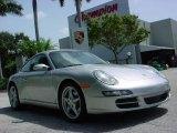 2007 Arctic Silver Metallic Porsche 911 Carrera Coupe #351950