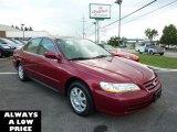 2002 Firepepper Red Pearl Honda Accord SE Sedan #35551234