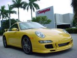 Speed Yellow Porsche 911 in 2008