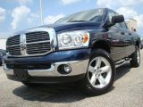 2007 Patriot Blue Pearl Dodge Ram 1500 Big Horn Edition Quad Cab 4x4 #35551776