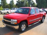 2000 Victory Red Chevrolet Silverado 1500 LS Extended Cab 4x4 #35552780