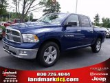2011 Deep Water Blue Pearl Dodge Ram 1500 Big Horn Crew Cab #35552195