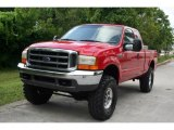 2000 Red Ford F250 Super Duty Lariat Extended Cab 4x4 #35552274