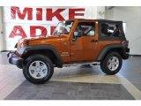 2010 Mango Tango Pearl Jeep Wrangler Sport 4x4 #35552288