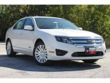2010 White Platinum Tri-coat Metallic Ford Fusion Hybrid #35551924