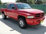 2001 Flame Red Dodge Ram 1500 Sport Club Cab 4x4 #35552299