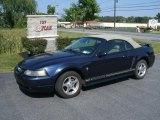 2001 True Blue Metallic Ford Mustang V6 Convertible #35552393