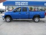 2007 Electric Blue Pearl Dodge Ram 1500 SLT Quad Cab 4x4 #35670134