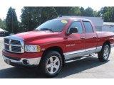 2004 Flame Red Dodge Ram 1500 Laramie Quad Cab 4x4 #35670171