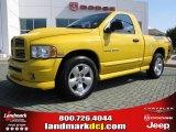 2005 Solar Yellow Dodge Ram 1500 SLT Rumble Bee Regular Cab #35669918