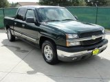2004 Dark Green Metallic Chevrolet Silverado 1500 LS Crew Cab #35669971