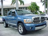 2006 Atlantic Blue Pearl Dodge Ram 1500 Laramie Quad Cab #35719014