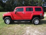 2009 Victory Red Hummer H3  #35719615