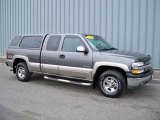 2001 Medium Charcoal Gray Metallic Chevrolet Silverado 1500 LS Extended Cab 4x4 #3571079
