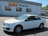 2010 White Suede Ford Fusion S #35788586