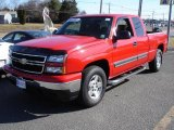 2007 Victory Red Chevrolet Silverado 1500 Classic LT Extended Cab 4x4 #3572786