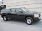 2007 Black Chevrolet Silverado 1500 LS Extended Cab 4x4 #35789326