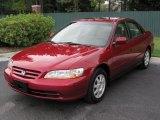 2002 Firepepper Red Pearl Honda Accord SE Sedan #35788621