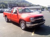 2004 Victory Red Chevrolet Silverado 1500 Regular Cab 4x4 #35788310