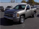 2008 Graystone Metallic Chevrolet Silverado 1500 LS Regular Cab #3569243
