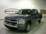 2008 Blue Granite Metallic Chevrolet Silverado 1500 LT Crew Cab #354189