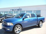 2011 Deep Water Blue Pearl Dodge Ram 1500 Sport Crew Cab 4x4 #35788797