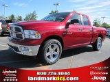 2010 Inferno Red Crystal Pearl Dodge Ram 1500 Big Horn Quad Cab #35899697