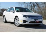 2010 White Platinum Tri-coat Metallic Ford Fusion Hybrid #35956061