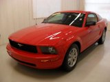 2006 Torch Red Ford Mustang V6 Deluxe Coupe #35956389