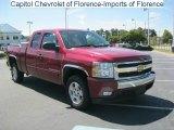 2007 Sport Red Metallic Chevrolet Silverado 1500 LT Extended Cab #35975281