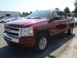 2009 Deep Ruby Red Metallic Chevrolet Silverado 1500 LT Crew Cab 4x4 #35974870