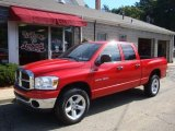 2007 Flame Red Dodge Ram 1500 SLT Quad Cab 4x4 #35999187