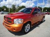 2008 Sunburst Orange Pearl Dodge Ram 1500 Sport Quad Cab #35999508