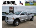 2008 Bright Silver Metallic Dodge Ram 3500 Laramie Quad Cab 4x4 Dually #35998989