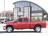 2007 Inferno Red Crystal Pearl Dodge Ram 1500 Lone Star Quad Cab 4x4 #35999313