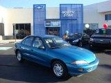 1998 Bright Aqua Metallic Chevrolet Cavalier Sedan #35999013