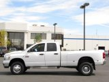 2008 Bright White Dodge Ram 3500 Big Horn Edition Quad Cab 4x4 Dually #35999319