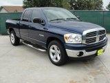 2008 Patriot Blue Pearl Dodge Ram 1500 Lone Star Edition Quad Cab #35999061