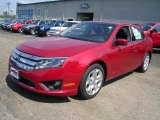 2011 Red Candy Metallic Ford Fusion SE #35998884