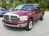 2008 Inferno Red Crystal Pearl Dodge Ram 1500 ST Quad Cab #35999616